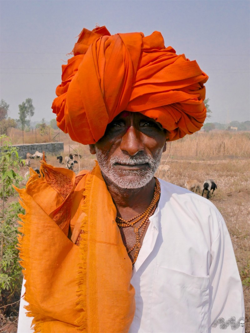 """His father, wearing an impressive """"pagdi"""" was curious why I would cycle over 120 kms just to see a well"""